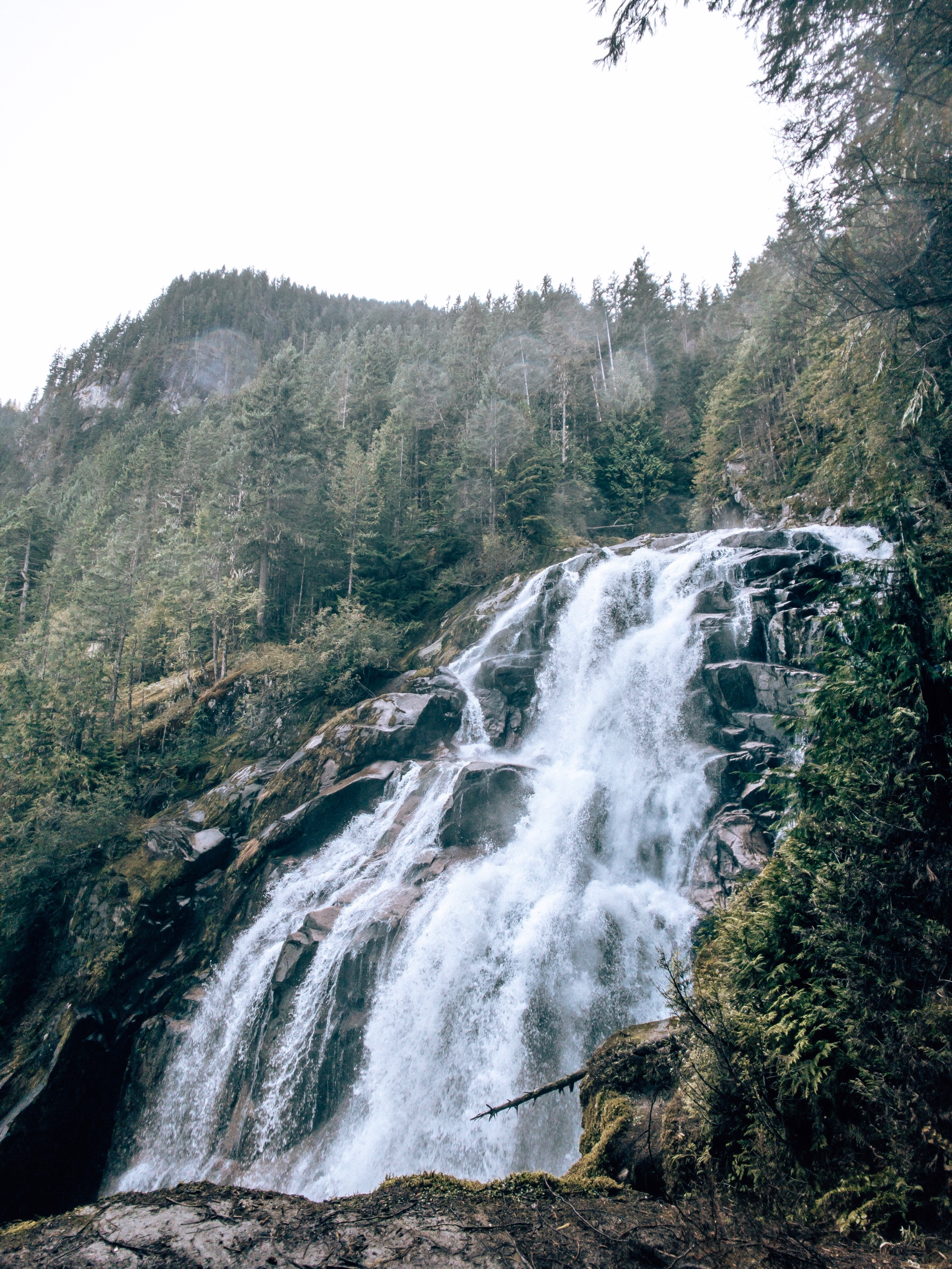 Waterfall hike in Squamish BC Canada