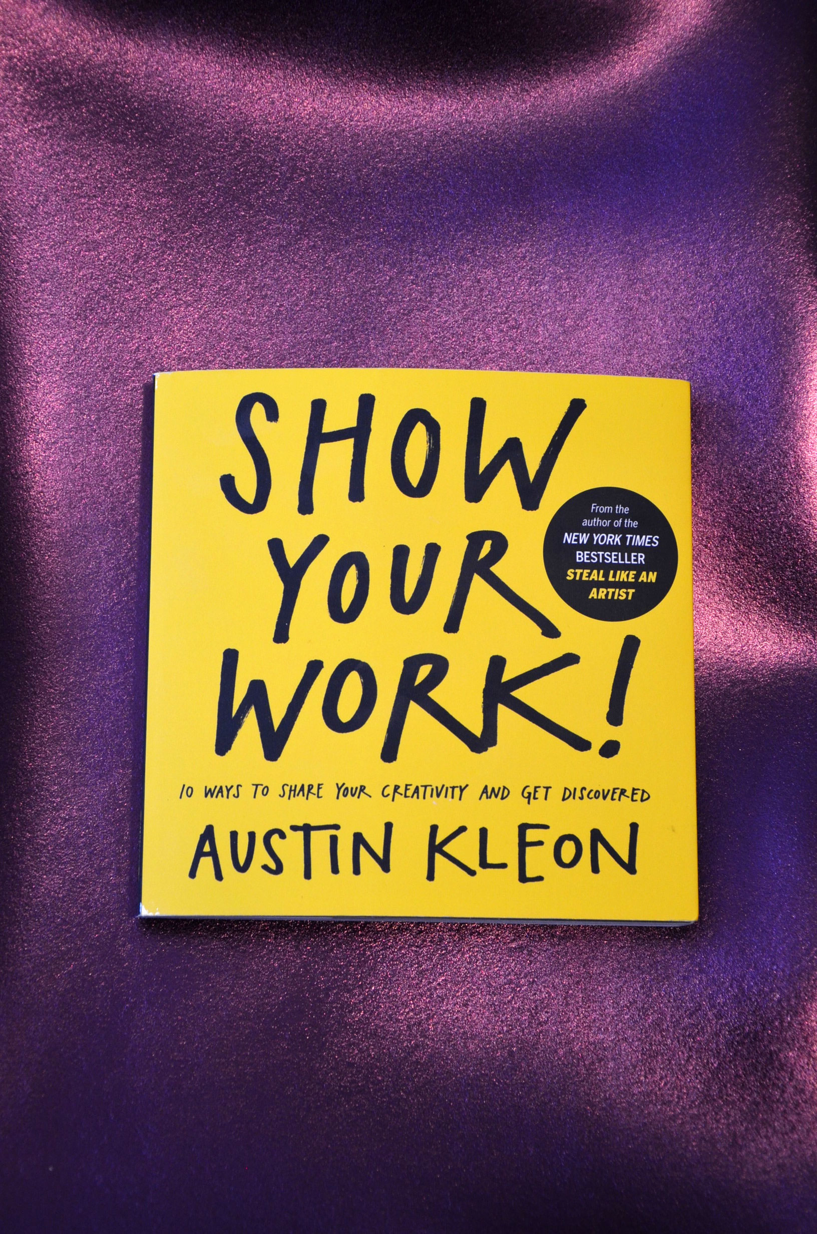 """Show Your Work!  is about why generosity trumps genius. It's about getting  findable , about using the network instead of wasting time """"networking."""" It's not self-promotion, it's self-discovery—let others into your process, then let them steal from you. Filled with illustrations, quotes, stories, and examples,  Show Your Work!  offers ten transformative rules for being open, generous, brave, productive"""