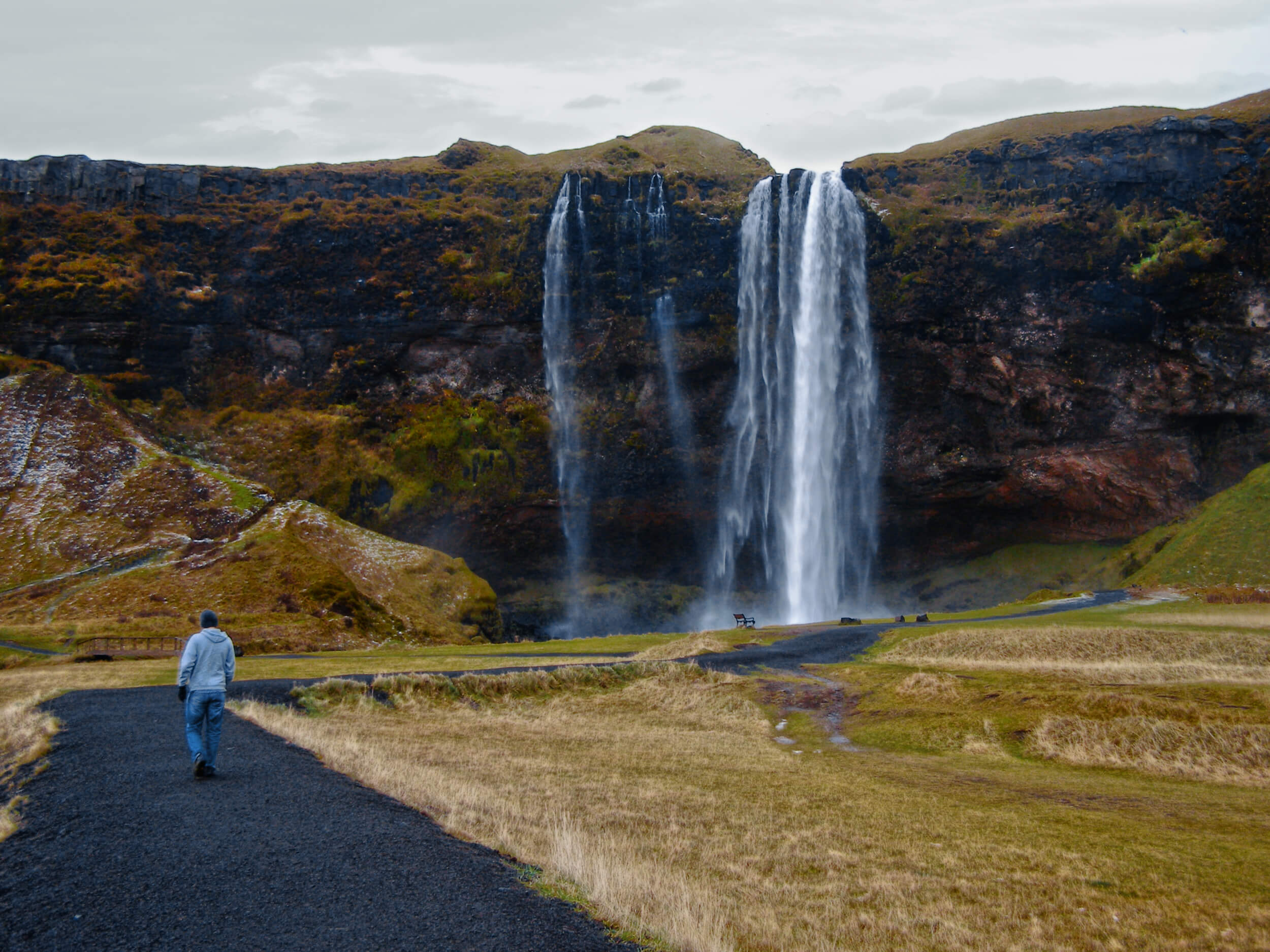 How do we find the balance between staying on the path, and making a new one?  Seljalandsfoss, Iceland [2006]