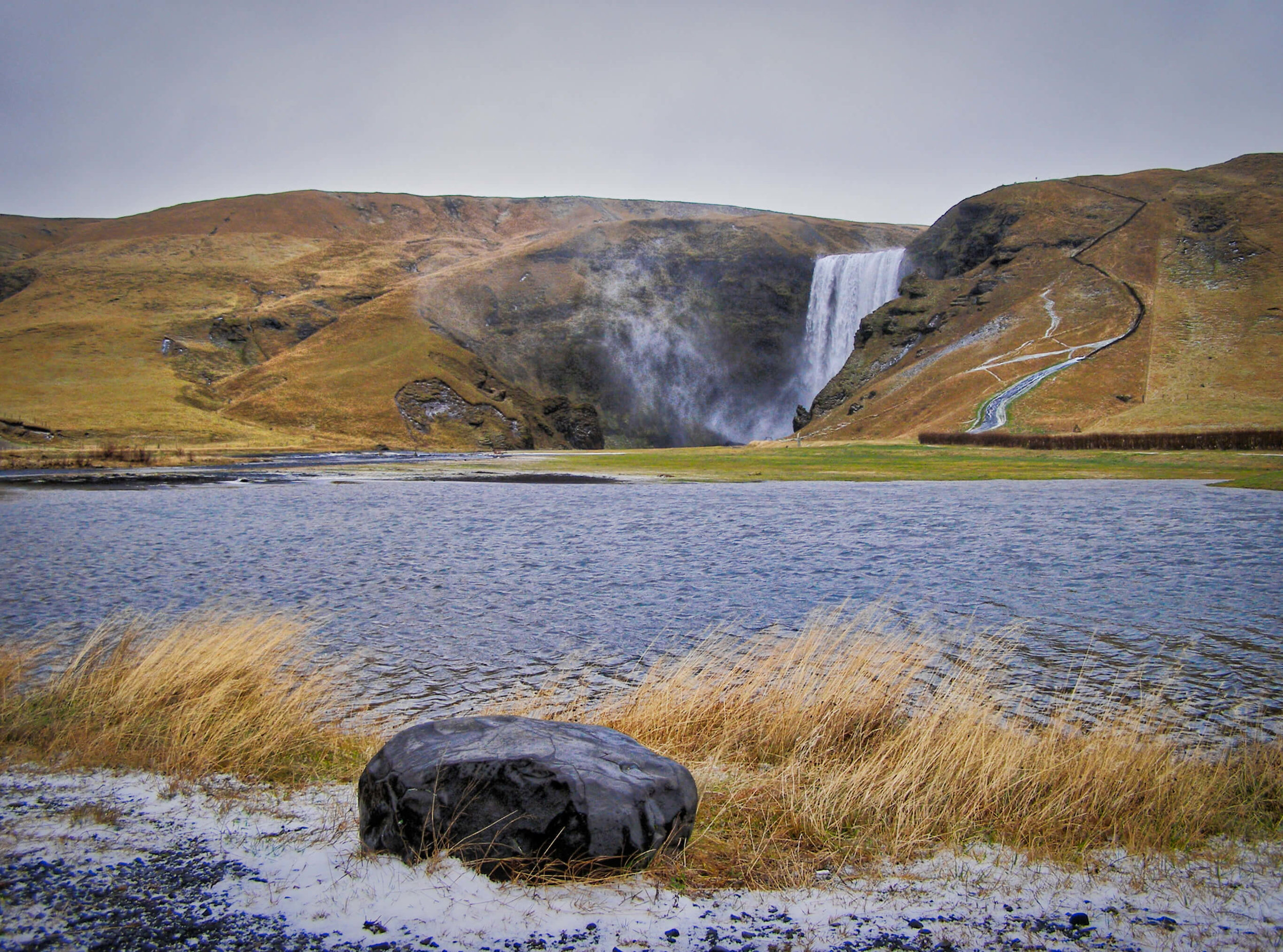 Crossing the ocean is far easier if you know why you're doing it.  Skogafoss Waterfall, Iceland [2006]