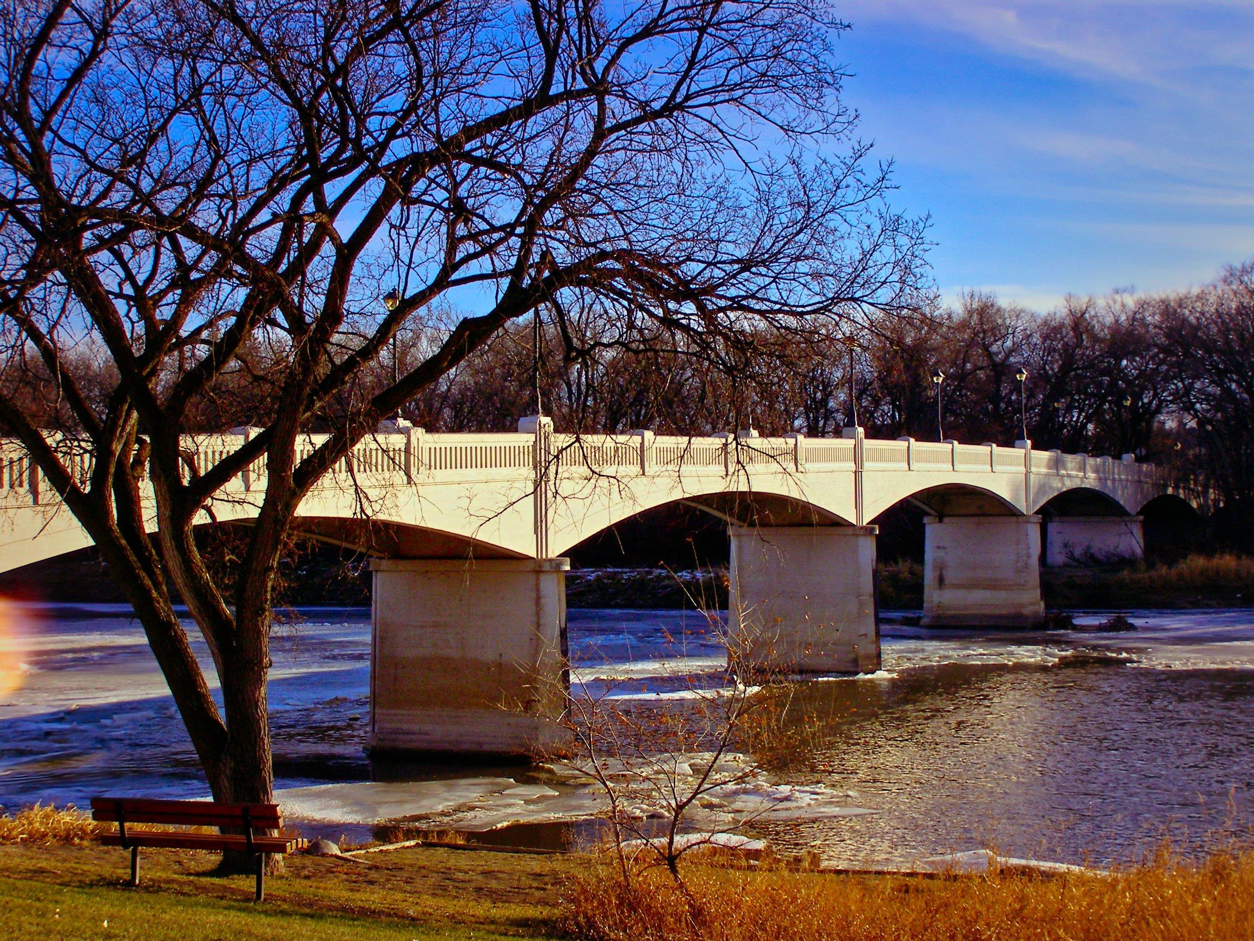 """Cloud Bridge"" Assiniboine River Park, Winnipeg [2006]"