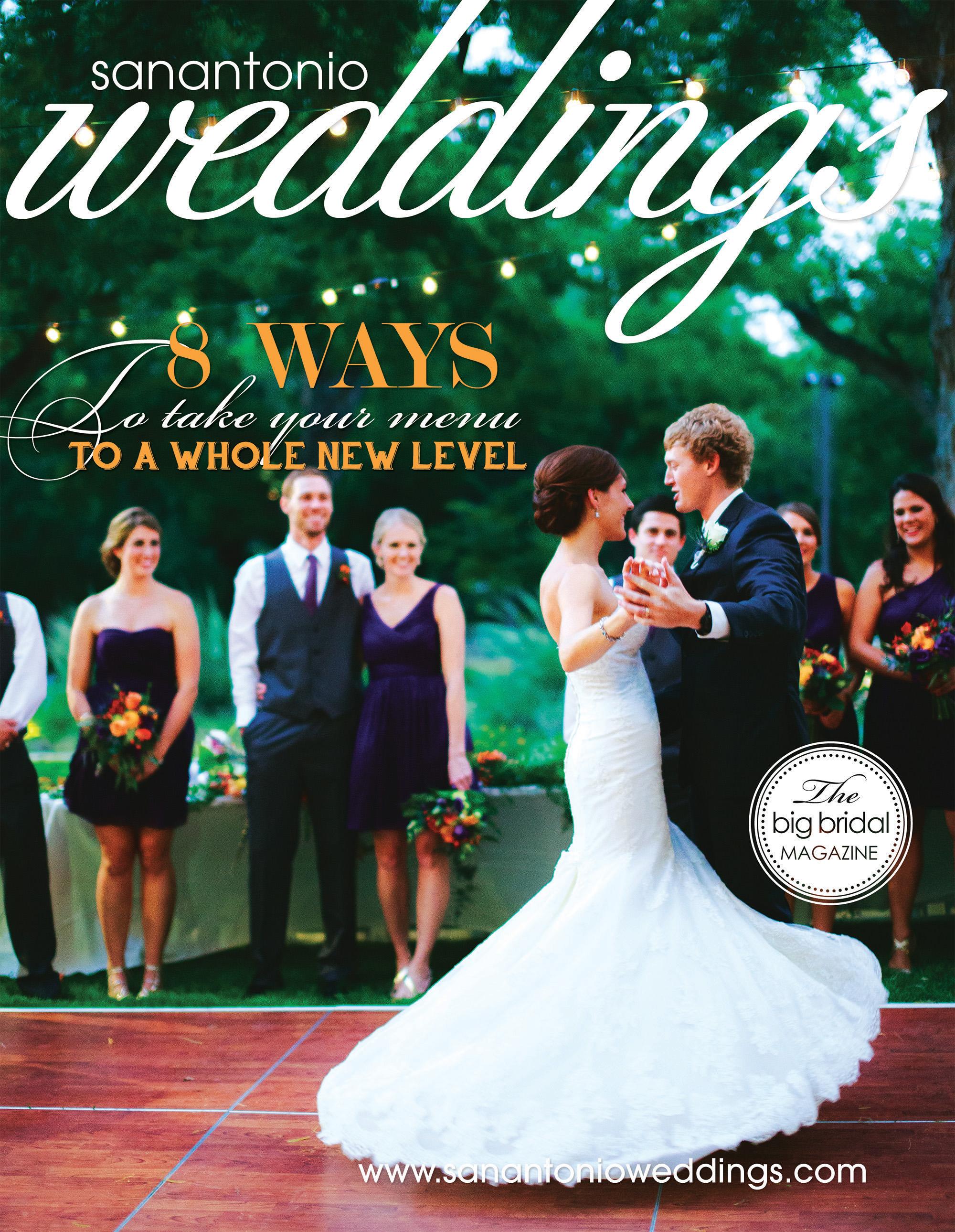 San Antonio Weddings Magazine Cover  (2015, Pamela & Taylor Dreiss)