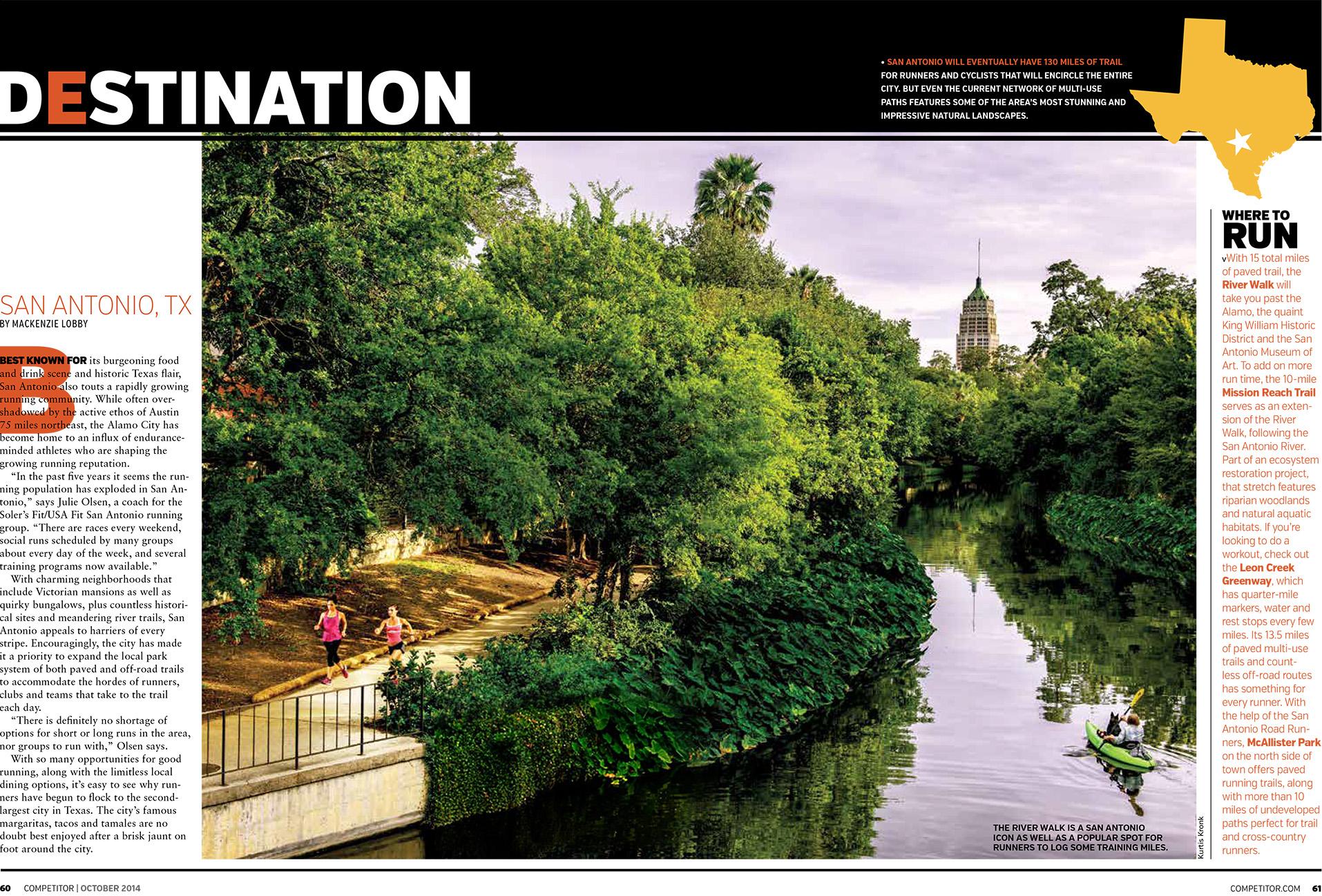 Competitor Magazine Editorial  (2014, Destination San Antonio)