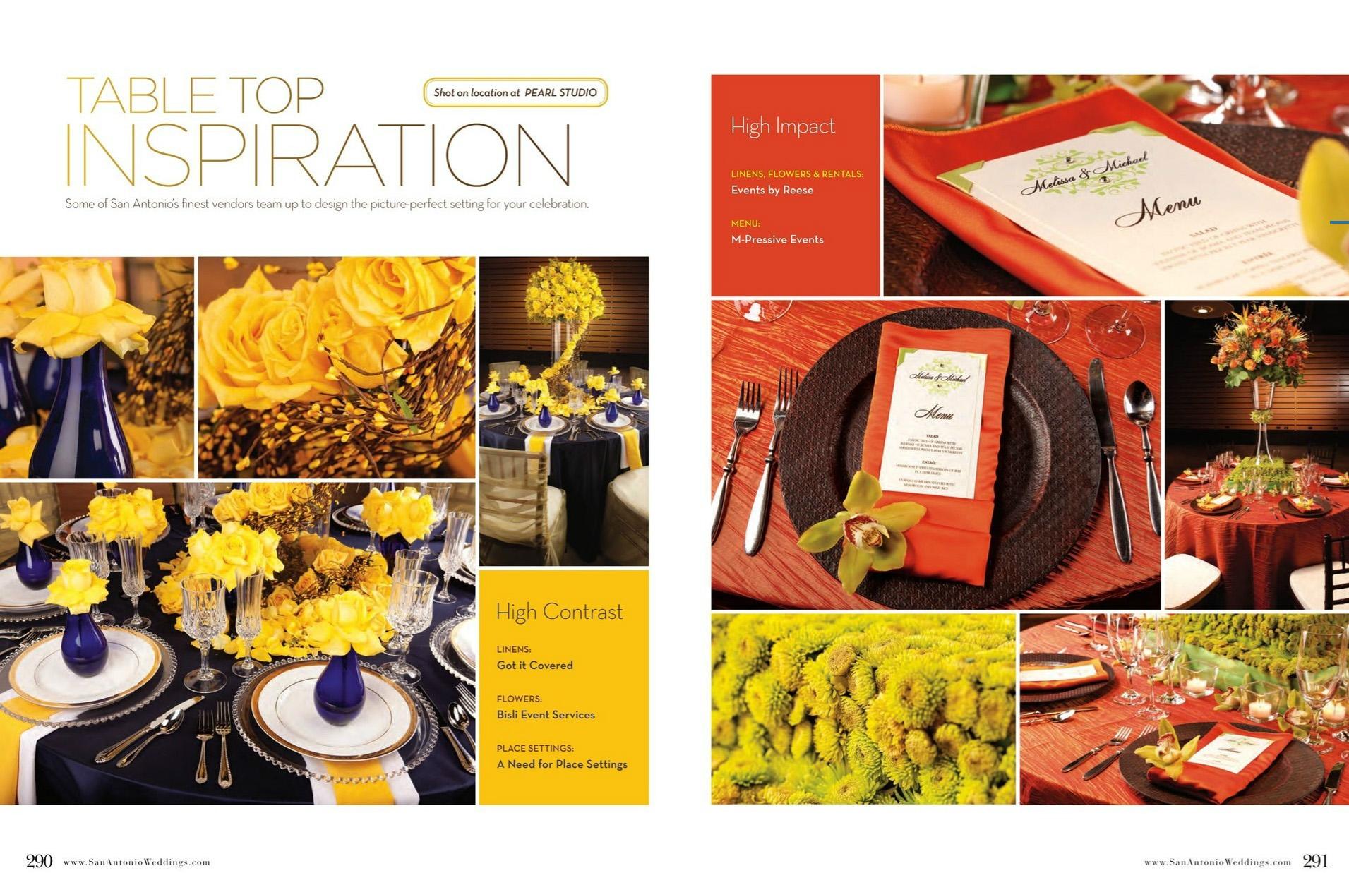 San Antonio Weddings Magazine Feature  (2010, Tabletop Inspiration)