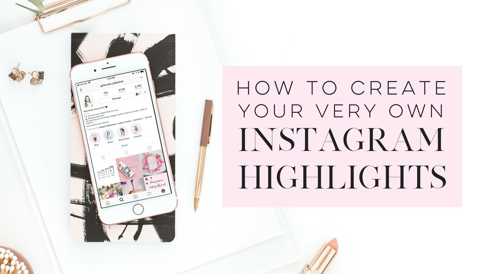 Instagram highlights diy