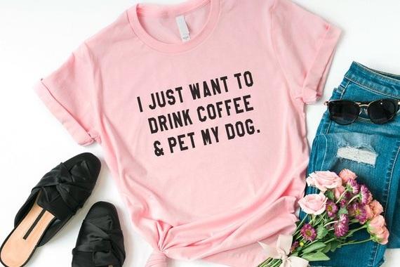 dog+and+coffee+shirt