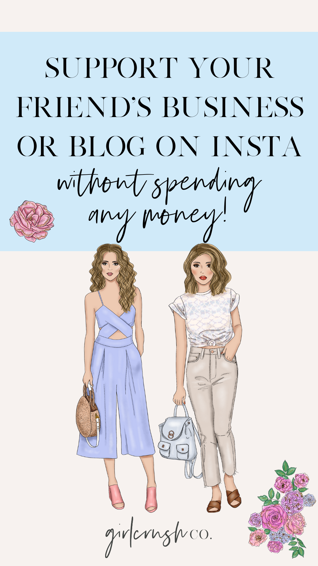 how to support other bloggers or business owners on instagram without spending any money