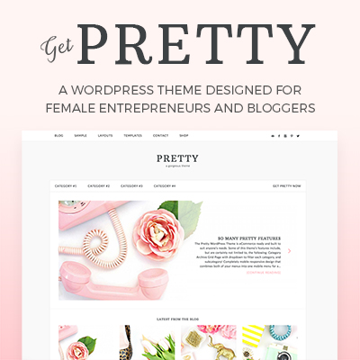 pretty wordpress theme for lifestyle bloggers