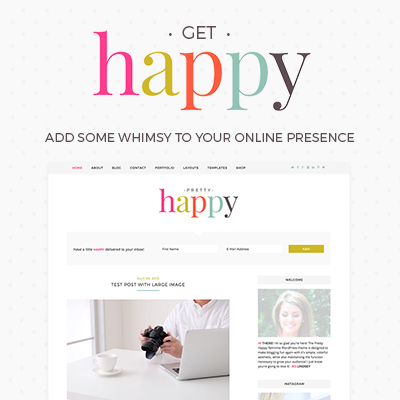 happy wordpress theme for lifestyle bloggers