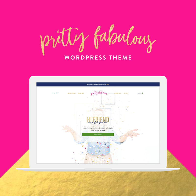 pretty fabulous wordpress theme for lifestyle bloggers