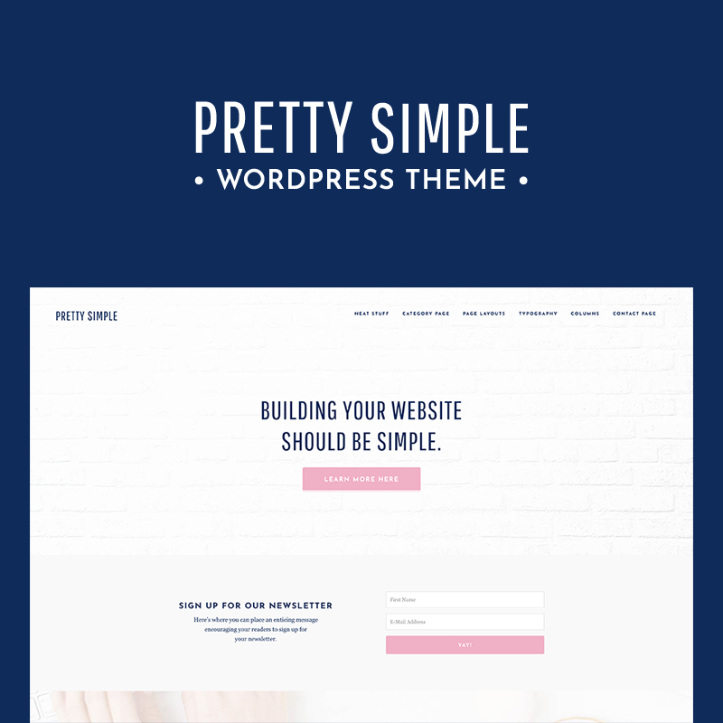 pretty simple wordpress theme for lifestyle bloggers