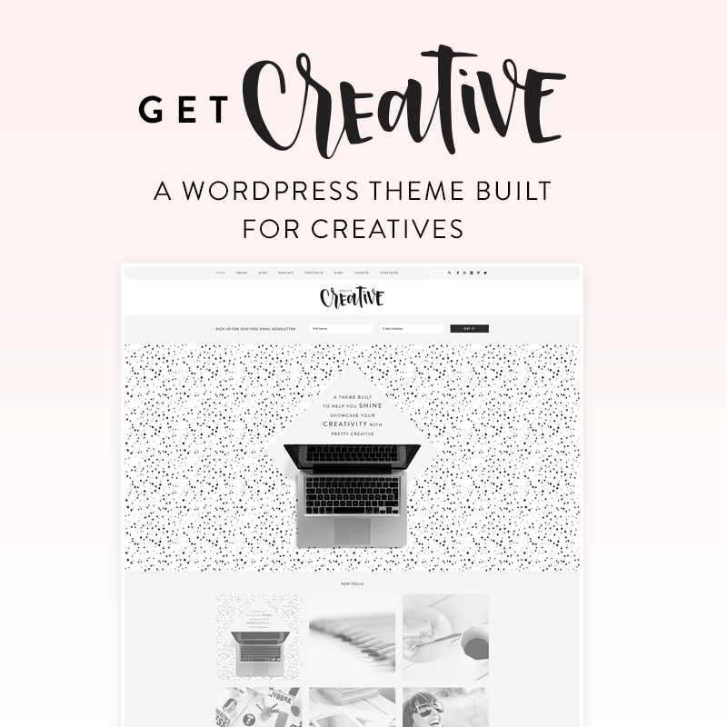 get creative wordpress theme for lifestyle bloggers