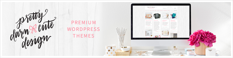 pretty darn cute wordpress theme designs