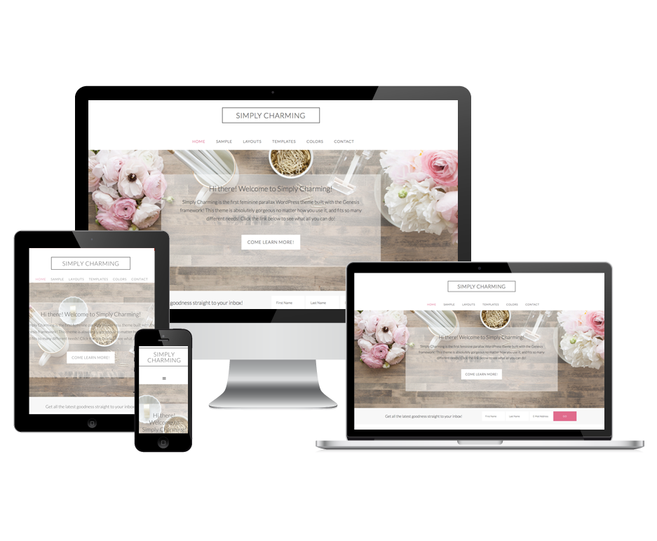simply charming wordpress theme for feminine lifestyle bloggers