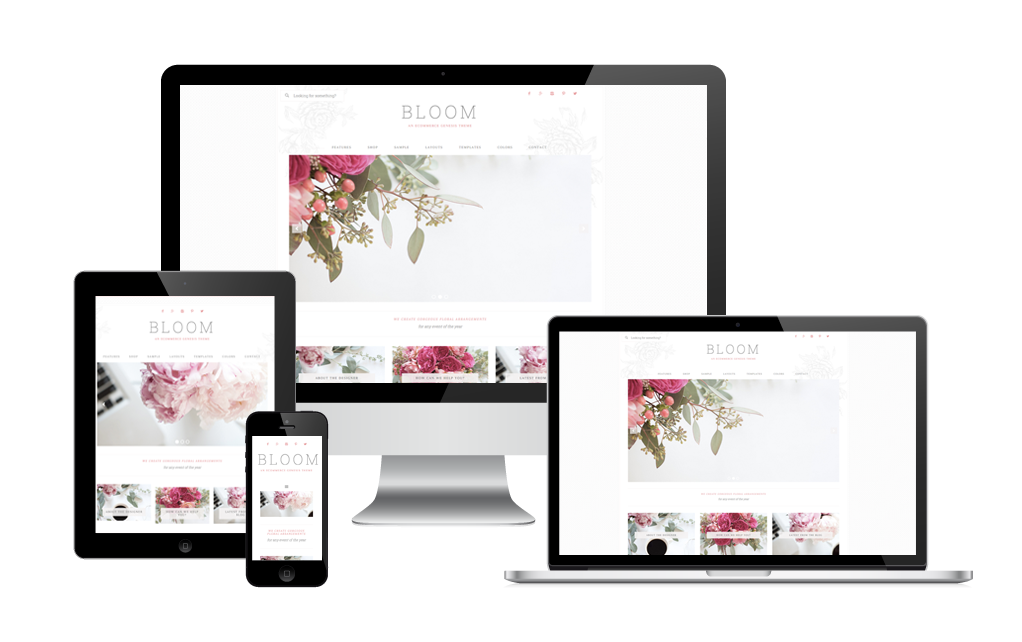 bloom wordpress theme design for lifestyle bloggers