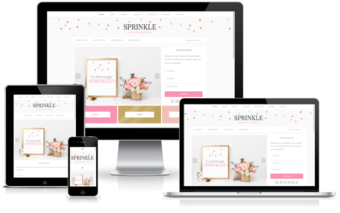 sprinkle feminine wordpress theme design for lifestyle bloggers
