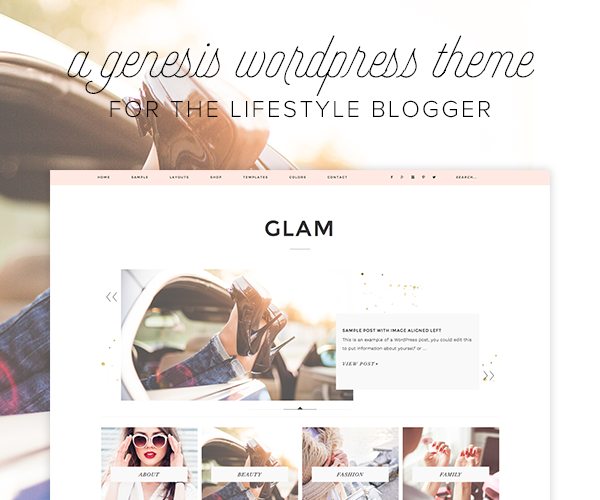 glam theme for lifestyle bloggers on wordpress