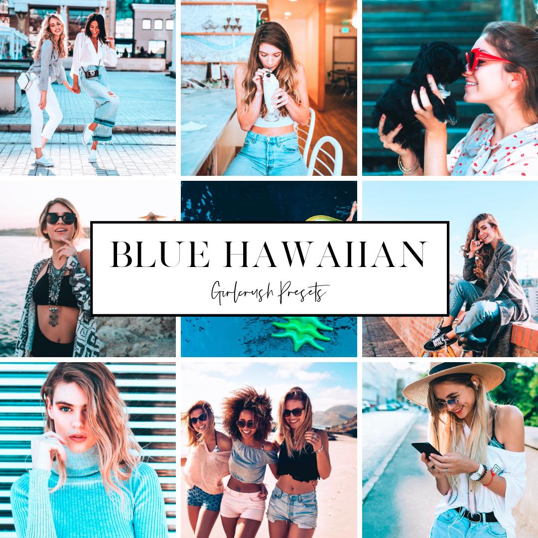 blue hawaiian tropical vibe instagram lightroom preset