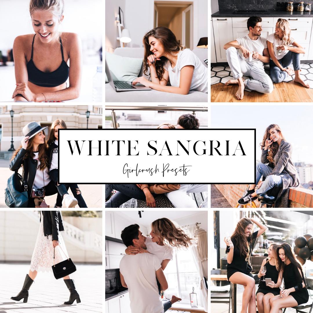 white sangria lightroom minimalist instagram