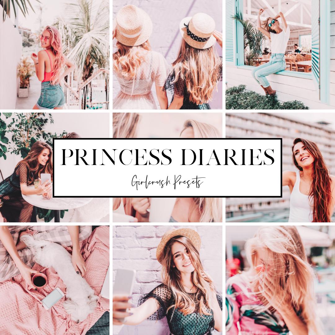 princess diaries pastel pink lightroom preset