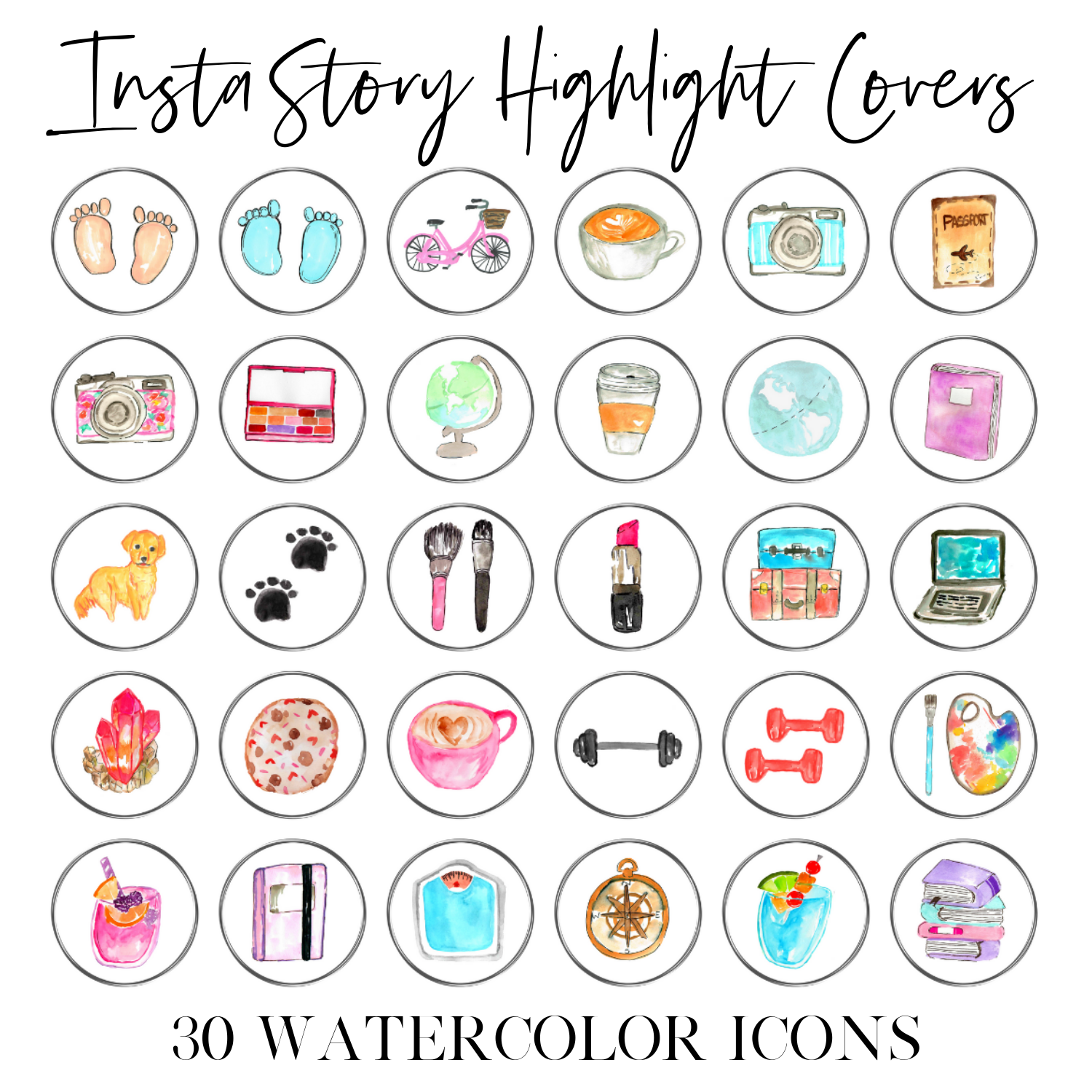 Instagram highlights icons
