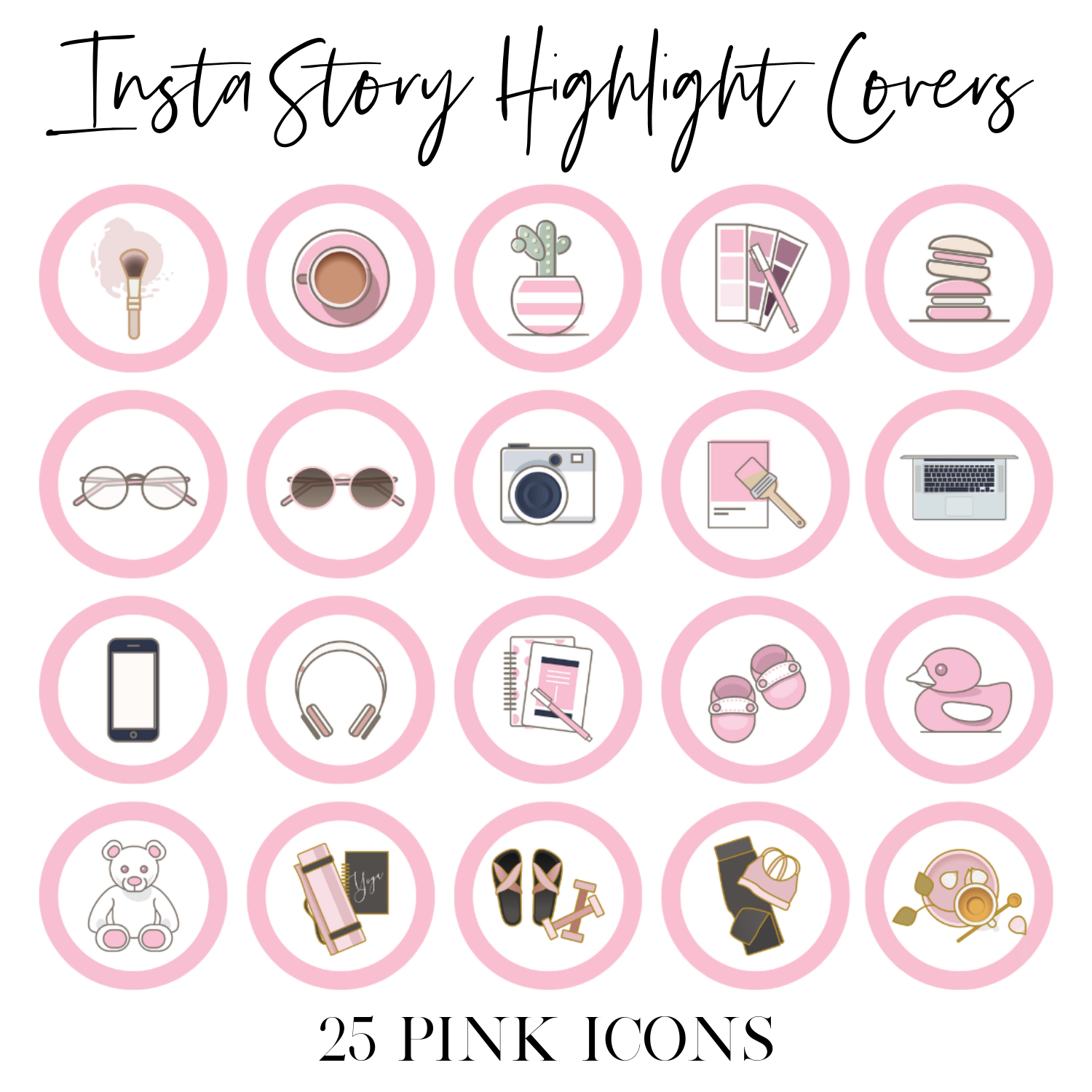 Instagram Story Highlight Covers Pink Icons Girlcrush Collective