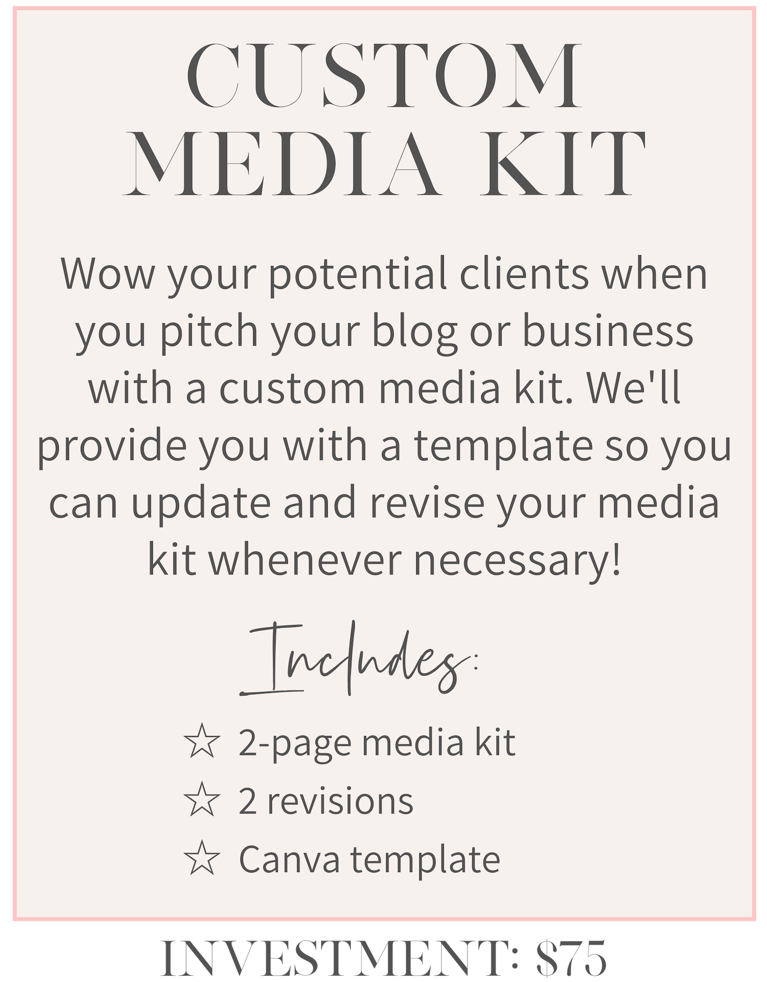 girlcrush collective media kit design service