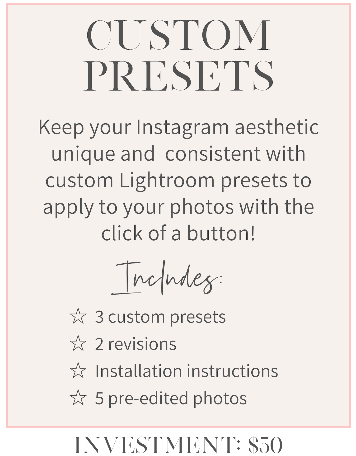 girlcrush collective lightroom preset service