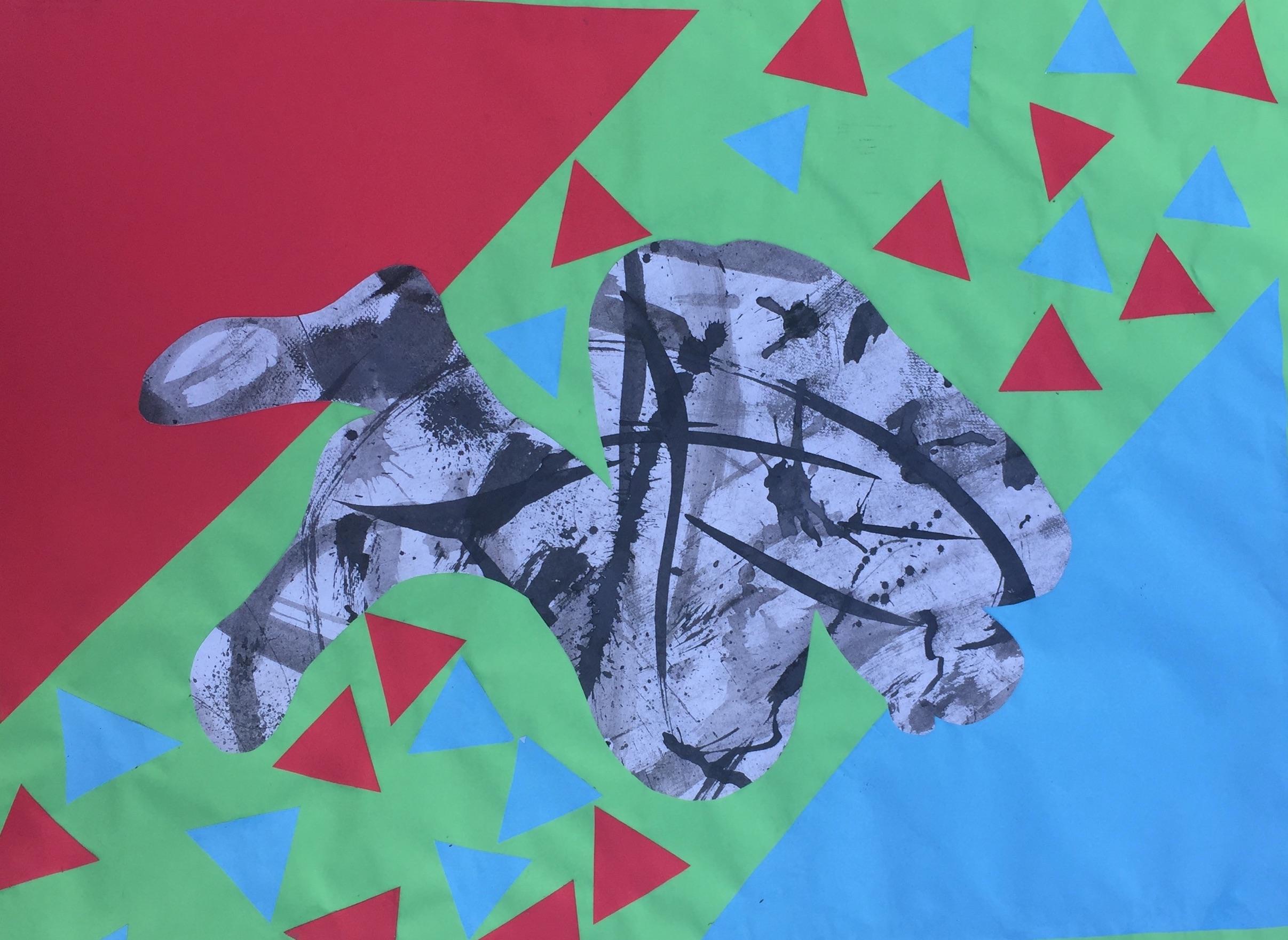 Bella Wayans  Paper Collage