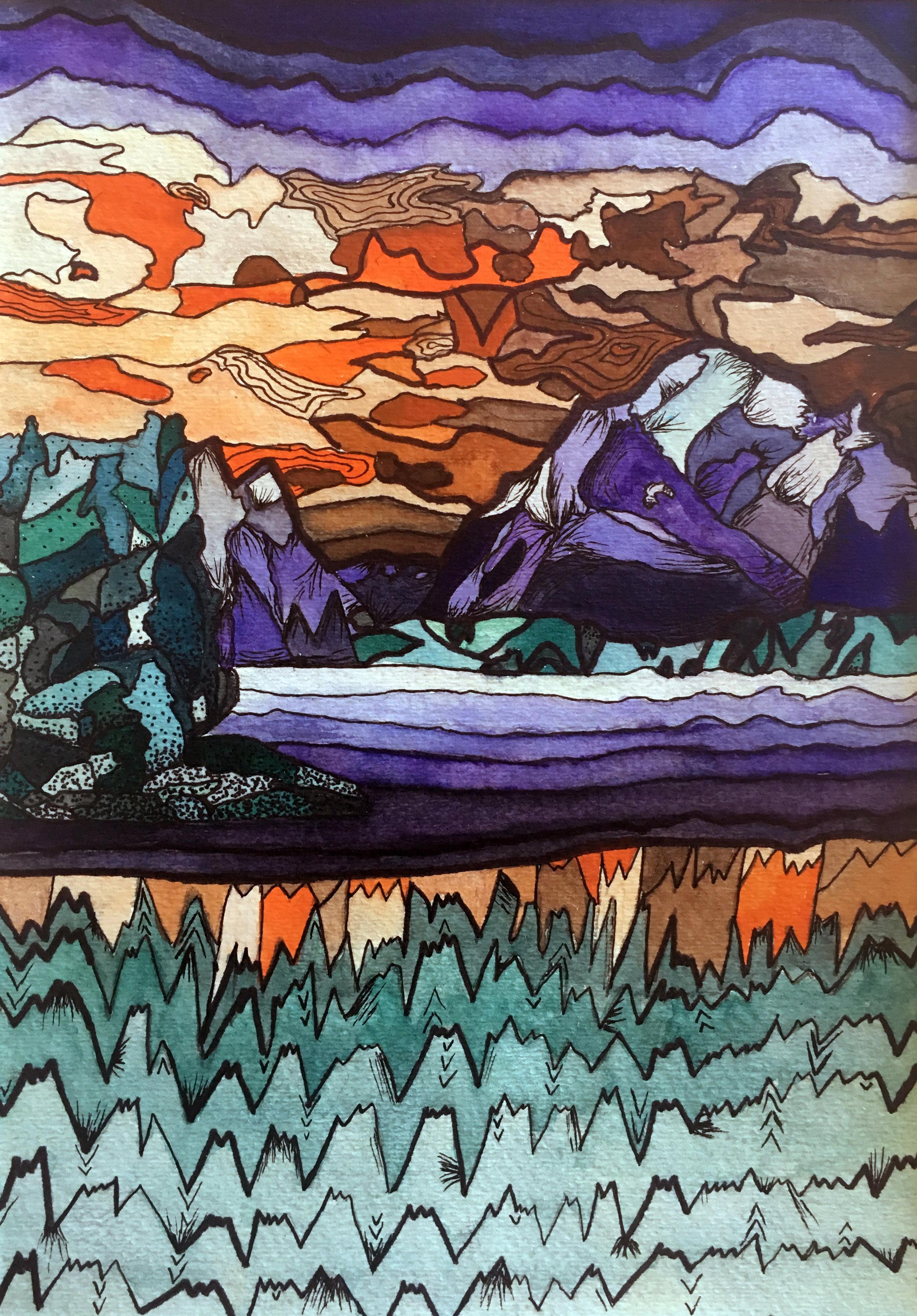 """""""Abstract Landscape"""" - Kallie Stevens"""