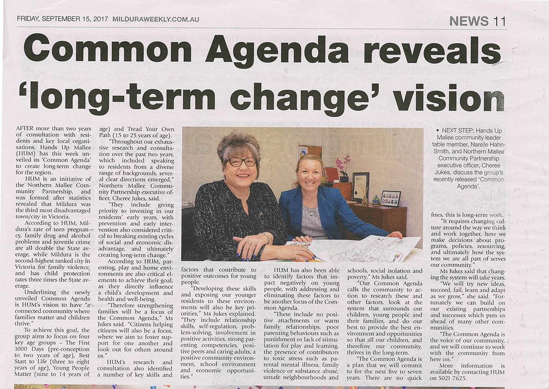 Common Agenda Mildura Weekly September 15 2017.png