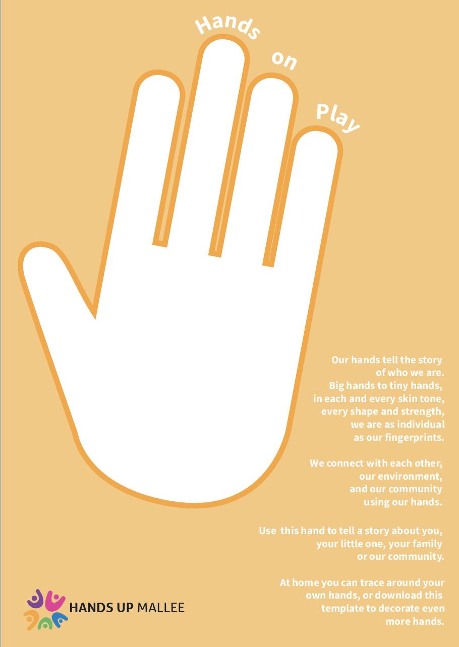Hands on play orange