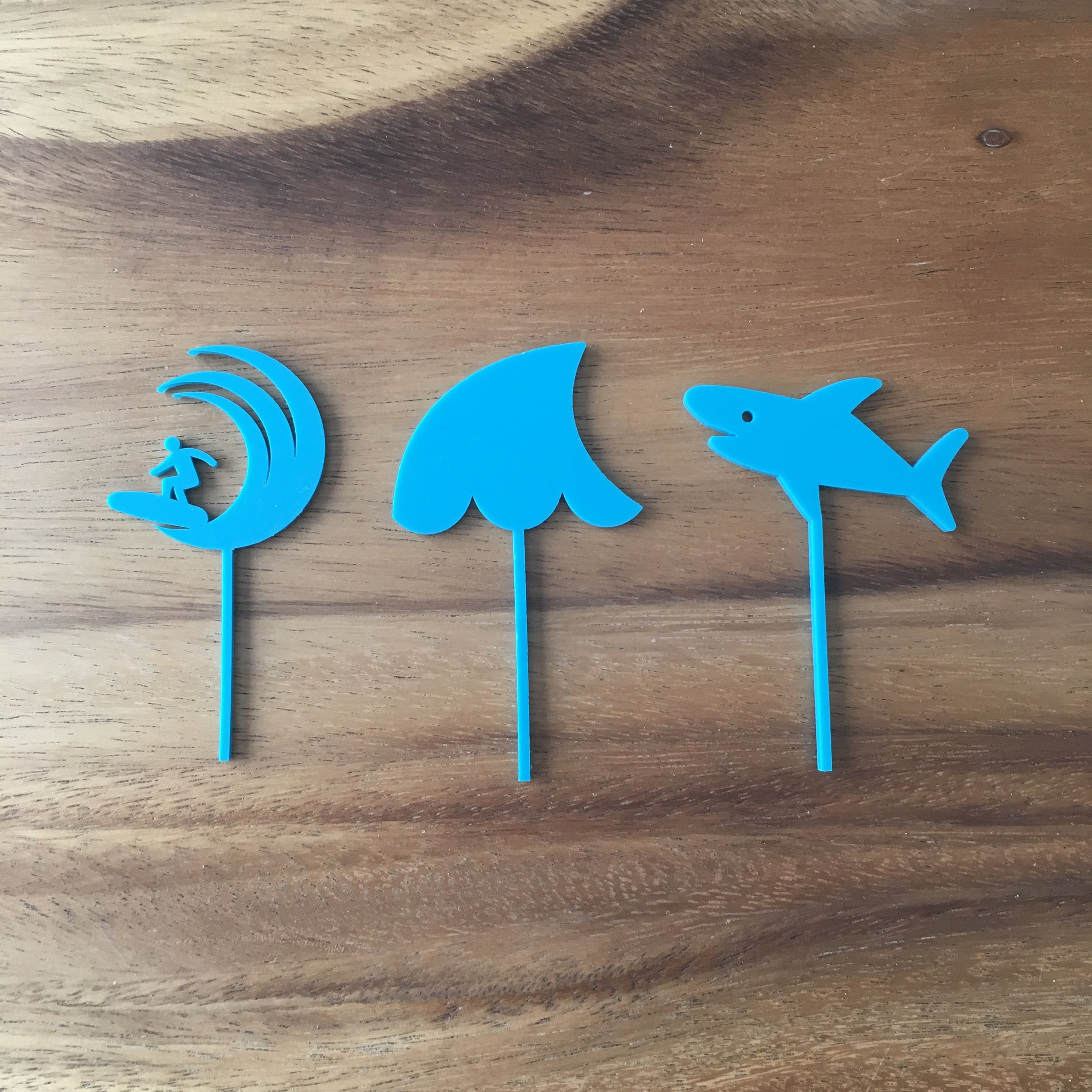 Cupcake Toppers - Custom designed for a surf themed baby shower