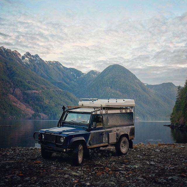 We've finally wrapped a few big projects...now its time to go get muddy! #landroverdefender #explorebc