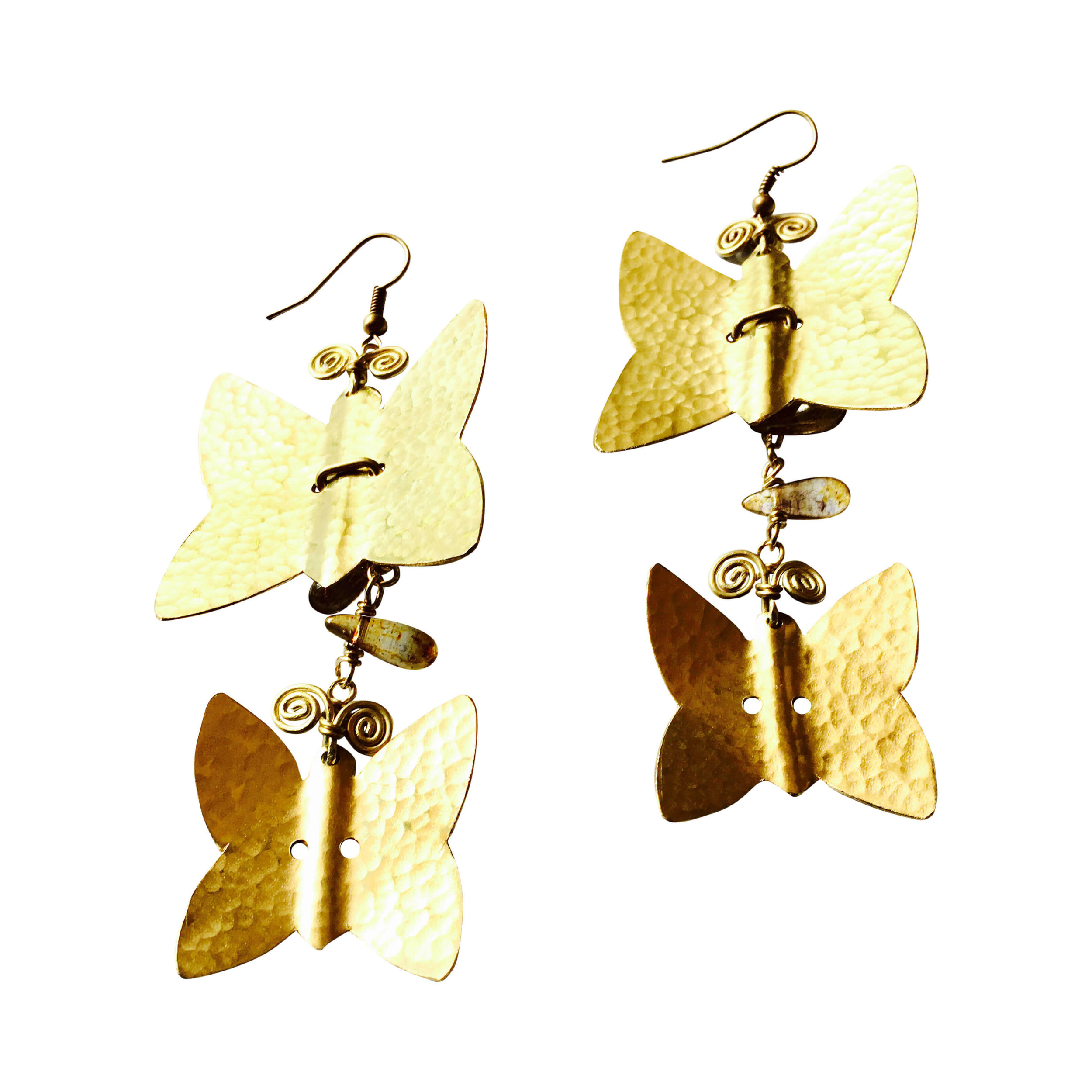 EARRINGS DW E2 BRASS