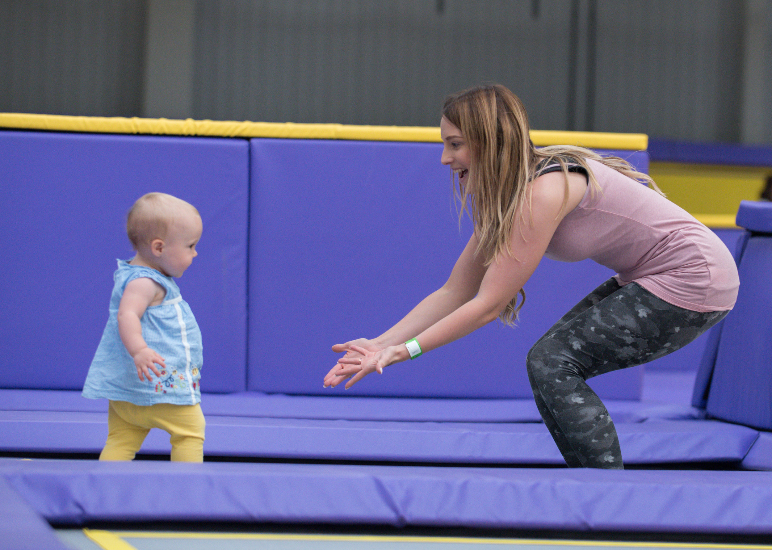 Soft play area for babies and toddlers