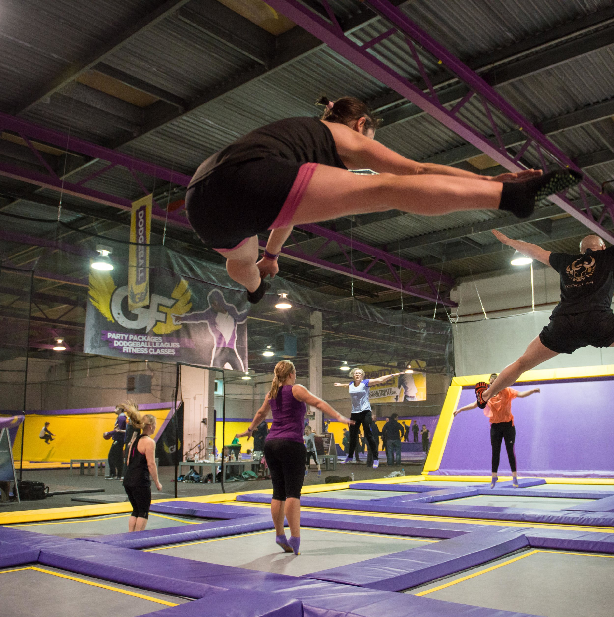 Trampoline fitness class Camberley