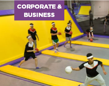 Planning a team building session or all-action business event? Book out our trampoline park exclusively for you and your colleagues to bounce, play and compete.