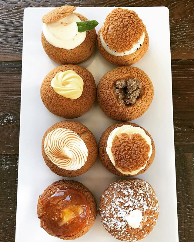 """Sugar pie honey bunch... you know that I love you..."" What a beautiful day it is today! Having people over or going to visit someone? Bring them some puffs!  Enjoy the weekend!  #sunsoutbunsout #creampuffs #newmarket #aurora #richmondhill #loveourcustomers #bakery #choux"