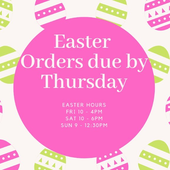 To our wonderful customers: We are no longer accepting orders for the cakes on our Easter Menu.  In order to keep up with demand, orders called in for same day pick up may be delayed till the end of the day if  we are able accommodate them. To avoid disappointment, it's best to pre-order.  As always, we appreciate you and your commitment to spreading your love for Cream puffs.