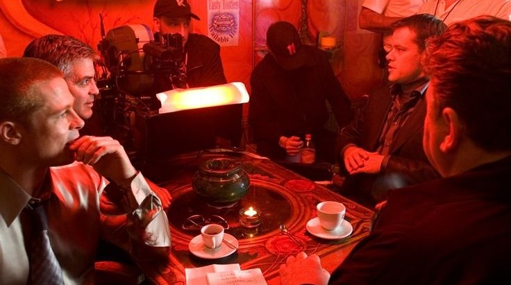 Brad Pitt, George Clooney, Matt Dillon and Robbie Coltrane