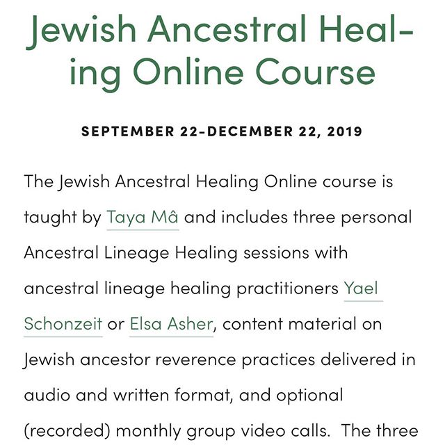 ⭐️ Jewish Ancestral Healing online course begins on Sunday! There's still time to sign up. Register at www.jewishancestralhealing.com