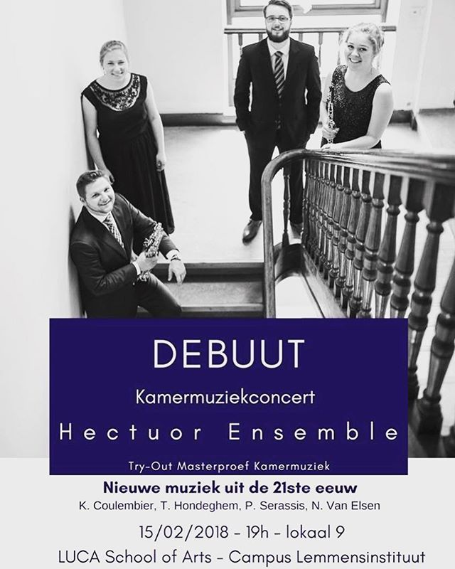 Looking forward to our first concert next week! Free entry @luca.schoolofarts Lemmensberg 3, 3000 Leuven. See you there!! #classicalmusic #hectuor #oboe #saxophone #harp #piano #concert #free