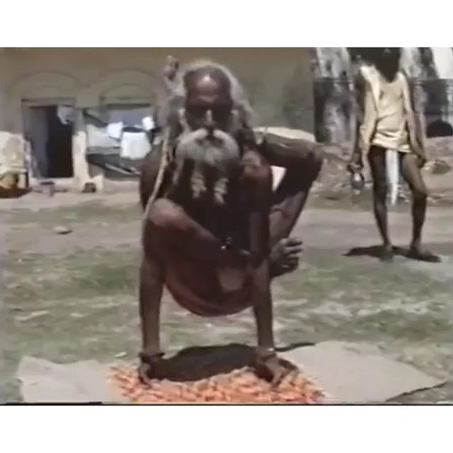 ". . . .•*¨*•.¸¸♡¸¸.•*¨*• . .  вeyond тнe ғancy yoga panтѕ . •*¨*•.¸¸♡¸¸.•*¨*• . .  T҉H҉E҉R҉E҉ I҉S҉ A҉ Y҉O҉G҉I҉.... . . ... called Amritananda Giri, who is 86-year old. You can see his yoga demonstration at 1986 Haridwar Kumbha Mela here:  https://www.facebook.com/100003212643260/posts/1873768696073534/  Footage from ""Kings with Straw Mats"" by Ira Cohen.  #Willbeinmybook #KumbhaMela #Yogis  ___________________________________________ #yoga #yogaphilosophy #ancientyoga #yogainspiration #yogapractice #yogalovers #yogafun #rootsofyoga #bhagavadgita #patanjaliyoga #patanjaliyogasutras #yogagirl #yogini #yogi #master #yogahero #realyogi #yogifromeast #easteryoga"