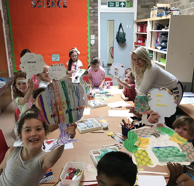 Art and crafts in the yoga kids club