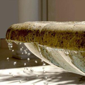 Limestone Fountain Detail