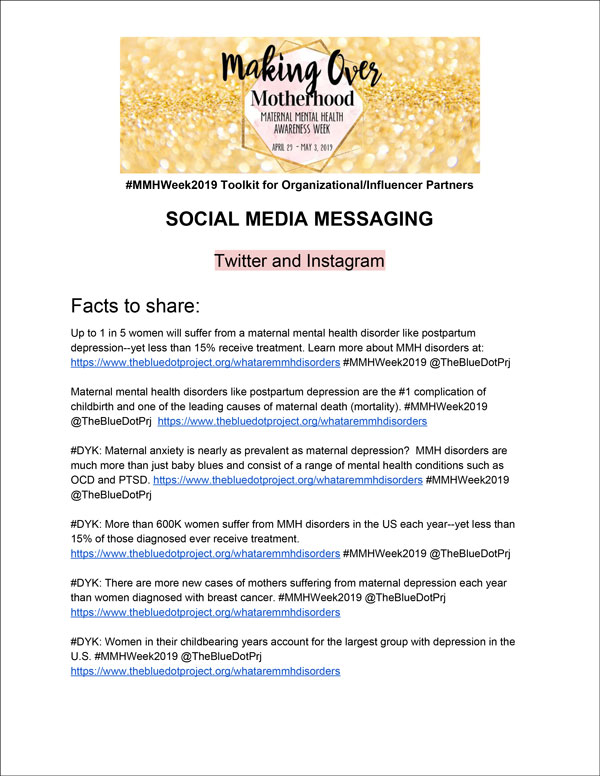 social media messaging - toolkit - Making Over motherhood Maternal mental health awareness week