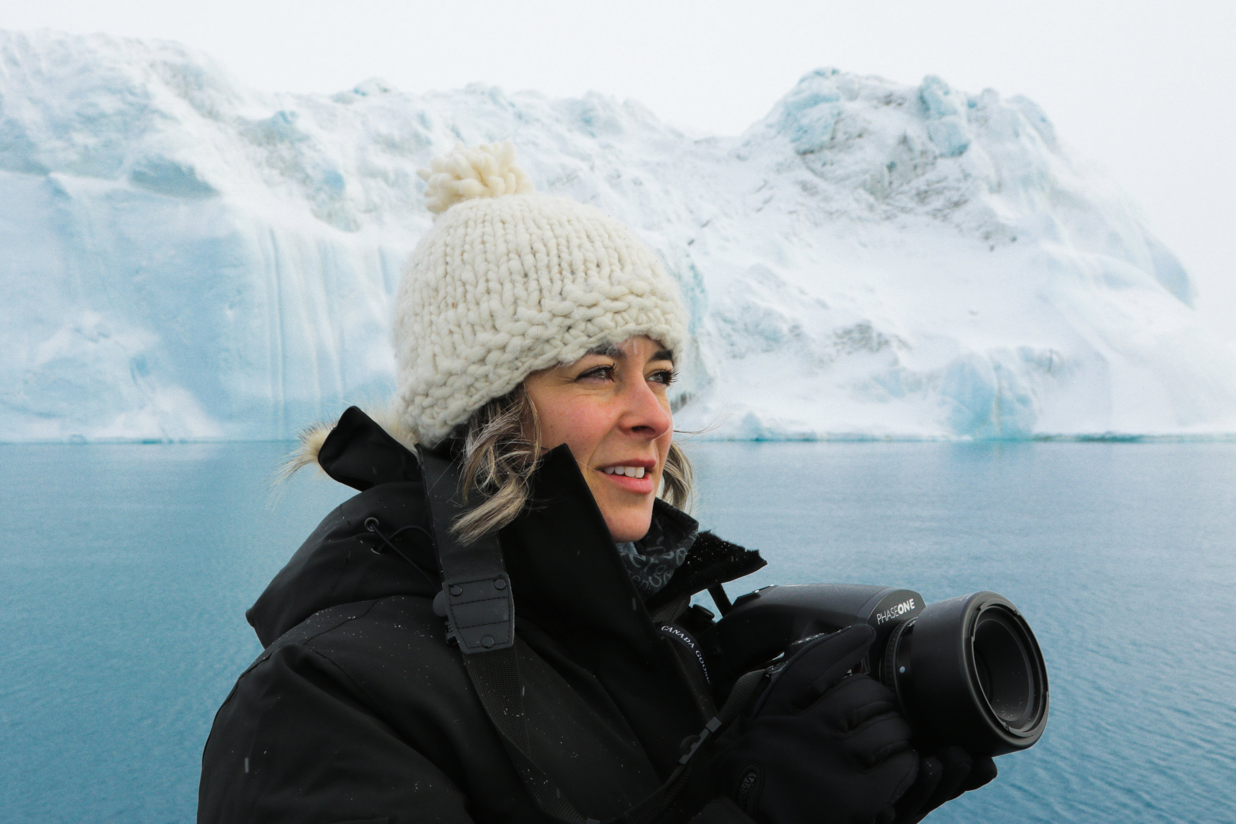 Forman journeyed to Antarctica to collect the photographs that have inspired her work. Credit: Drew Denny