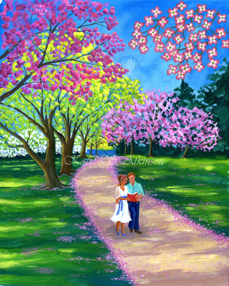 Couple walking in park with cherry blooms_watermarked.jpg