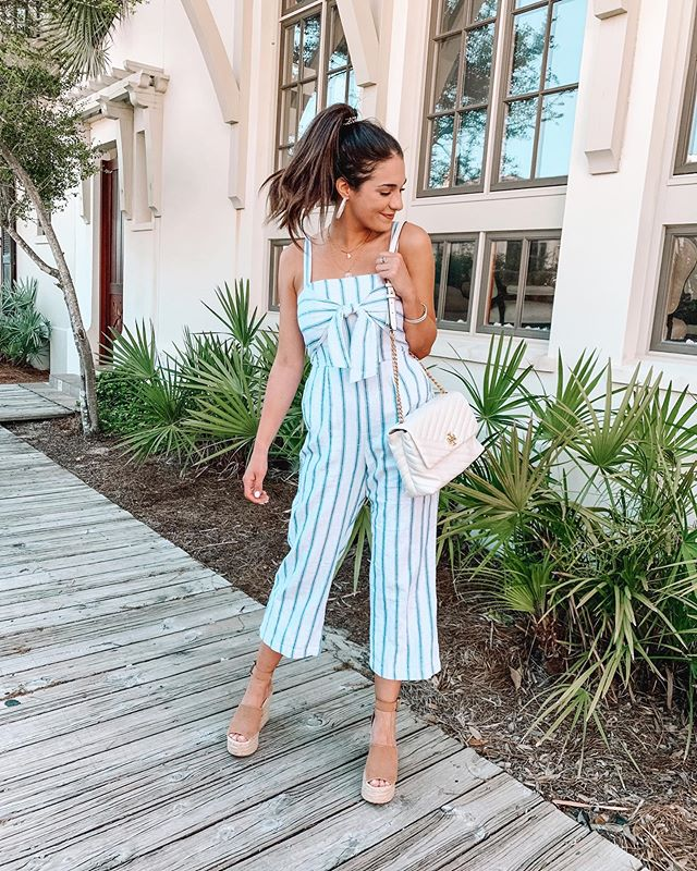 Here's to Friday🥂 && the perfect summer jumpsuit!! Staying put this weekend — We're planning on spending lots of time outside with the pups and going couch shopping! The downstairs of our new place is finally ready and we're moving furniture down there tomorrow!! Eeek🙌🏼 What are your weekend plans?! http://liketk.it/2BQam #liketkit @liketoknow.it #carlylethorntonfashion